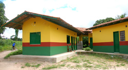 New infirmary at Tembe village of Tekohaw, Alto Rio Guama Indigenous Reserve, Brazil - Photo by Campbell Plowden/CACE