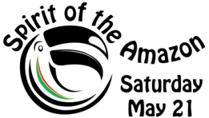 Toucan logo for Spirit of the Amazon - a fundraising party for the Center for Amazon Community Ecology