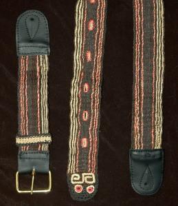 Afraninga snake model chambira Amazon guitar strap. Photo by Campbell Plowden/Center for Amazon Community Ecology