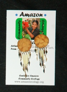 Ayahuasca earrings. Photo by Campbell Plowden/Center for Amazon Community Ecology
