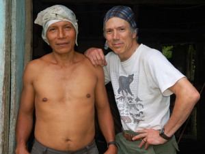 Campbell Plowden and Manuel with huito hairdos. Photo by Yully Rojas/Center for Amazon Community Ecology