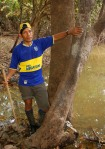 Manuel next to huitillo tree on the Yaguasyacu River.  Photo by Campbell Plowden