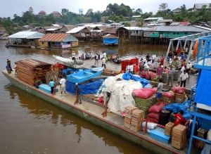 Landing dock at Pebas, Peru on the Amazon River.  Photo by Campbell Plowden/CACE