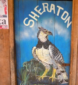 Eagle painting on door of painter at Puca Urquillo. Photo by Campbell Plowden/CACE