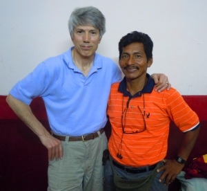 Campbell Plowden and Maijuna leader Romero Rios