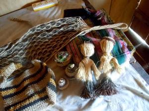 Mariel crafts at San Jose de Piri