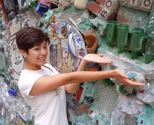 Marissa at Magic Gardens in Philadelphia