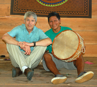 Campbell and Juan Silvano at Tamshiyacu lodge. Photo by Yully Rojas/CACE