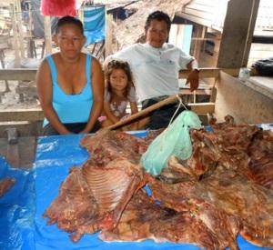 game meat vendors in Pebas