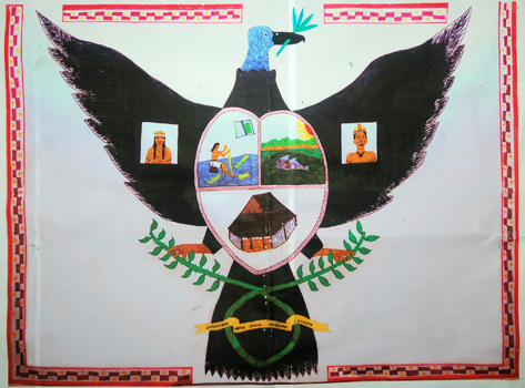 Ocaina vulture clan logo. Photo by C. Plowden/CACE