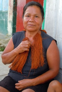Yagua artisan at Santa Lucia del Pro. Photo by C. Plowden/CACE