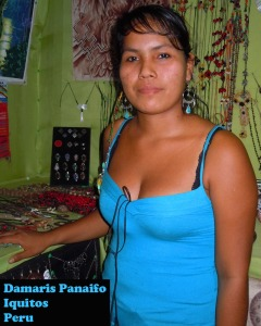 Damaris Panaifo, artisan from Iquitos, Peru. Photo by C. Plowden/CACE