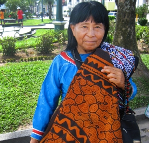 Ida Shipiba, Shipiba artisan working in Iquitos, Peru. Photo by C. Plowden/CACE