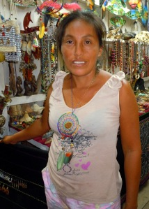 Rosa Sanchez Pua, artisan from Iquitos, Peru. Photo by C. Plowden/CACE
