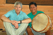 Campbell Plowden and Juan Silvano at Tamshiyacu lodge. © Photo by Yully Rojas/Center for Amazon Community Ecology