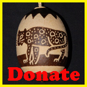 Jaguar tree ornament DONATE. © Photo by Campbell Plowden/Center for Amazon Community Ecology