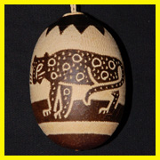 Jaguar tree ornament made by Bora artisan in Peru. © Photo by Campbell Plowden/Center for Amazon Community Ecology