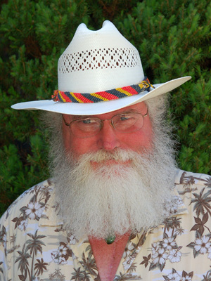 Chuck Barbour with Amazon hat band. Photo by Campbell Plowden/Center for Amazon Community Ecology