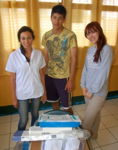 CACE delivering donated medical supplies to Jenaro Herrera clinic. Photo by Campbell Plowden/Center for Amazon Community Ecology
