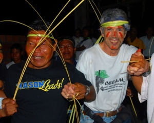 Campbell dancing with Maijuna. Photo by German Perilla/Center for Amazon Community Ecology