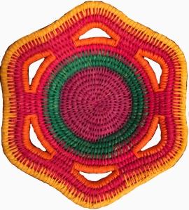 Chambira palm fiber basket woven by Maijuna artisan.  Photo by Michael Gilmore