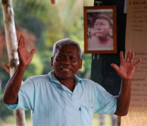 Maijuna leader and elder photo at FECONAMAI congress 2009.  Photo by Campbell Plowden/Center for Amazon Community Ecology