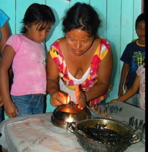 Ines lighting copal incense