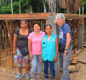 "Campbell with artisans in front of Chino ""Escuela de artesanas."" Photo by Matt VanderMolen/CACE"